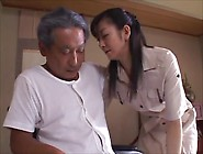 Japanese Wife Widow Takes Care Of Father In L...