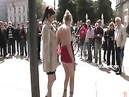Delicious Slut In Dress And On High Heels Und...