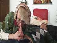 Lonely 70 Years Old Granny Slammed From Behin...