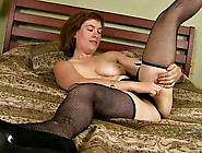 Hairy Mature Brunette Shows Off Her Old Saggy...