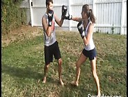 Kickboxed In The Balls By Girlfriend