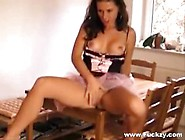 Hot Maid Milf Screwed On Kitchen Table & Crea...