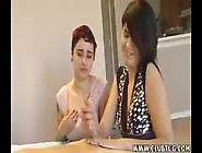 Goth Teen Jerks Big Cock Off Before Her Horny...