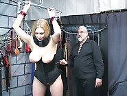 Big Boobed Milf In Tight Black Corset Whipped...
