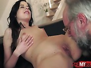 Brunette Teen Dp With Cum In Pussy