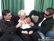 Granny Manager Gets Two Guys Drunk At Once An...