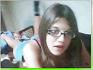 Nerdy Little Teen Girl Shows Underwear On Cha...