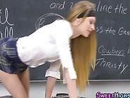 Skinny Blonde Teen Fucks The Teacher At Schoo...
