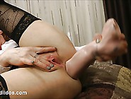 Brutal Anal With Huge Cock Dildo