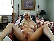 Blue Angel Blonde Fingering While Sucking A D...