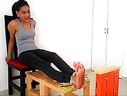 Very Hot Feet Roasting Girl