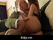 Caught Teen Schoolgirl Fucks Grandpa In Doggy...
