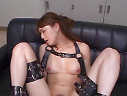 With Her Arms And Legs In Bondage She Gets He...