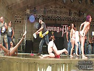 Babes At A Biker Show Dance On Stage