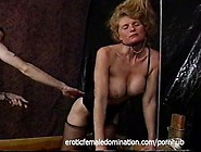Busty Blonde Slut Gets Tied Up And Spanked Re...