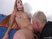 Skinny Bitch With Pierced Nipples Gets Her Sl...