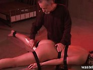 Bearded Master Ties Her Down Face Down With L...