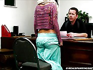 Realistic Corporal Punishment Paddling At Sch...