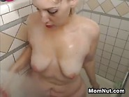 Fat Mother Taking A Shower