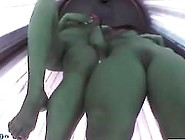 Two Girls In Tanning Booth Spreading And Play...