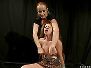Big Breasted Lady Gets Tortured By Her Cute F...