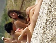 Naked Babes Are Relaxing On The Nudist Beach ...