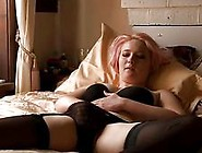 Teasing Pink Haired Teen In Stockings And Lin...