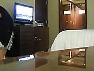 Arab Wife Exhibiting Teasing Room Service Boy