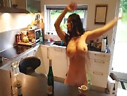 Real Fake Boobs Busty Wife Is Dancing 3