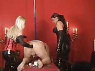Two Cruel Femdom Mistresses Fisting Male Slav...