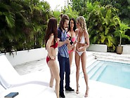 Moms In Bikinis Triple Team A Hot Young Guy P...