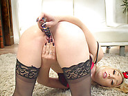 Wife Lily Labeau Masturbates For Her Tied Up ...