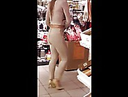 #20 Sexy Girl In Tight Beige Outfit And High ...