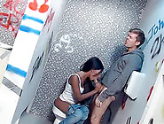 Elicia Solace Sits On The Toilet In A Public ...