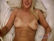 Geeky Ditzy Blonde Dirty Talks While Bff Lick...