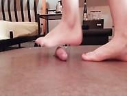 Cruel Barefoot Cock Crush With Sexy Feet