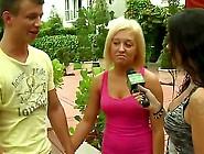 This Luscivious Fair Haired Woman Is