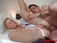 Stunning Mature Maid Fucks Lucky Guest In Hot...
