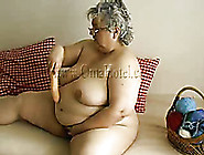 Fat Obese Woman Fucks Her Thick Pussy With He...