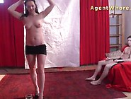 Teen Boy Gets First Striptease From Kinky Mil...