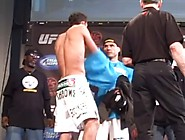 Weigh In Guy Pulls Boxers Down A Little Too F...