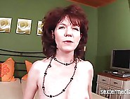 Mature,  Red Haired Woman With Hairy Pussy Is...