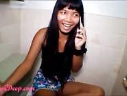 Heather Deep Talks To Boyfriend On Phone Whil...