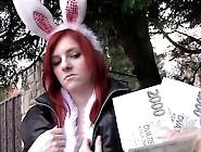 Hot Easter Bunny Girl Fucked Outside