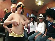Three Big Beautiful Women Strip For Guys In T...