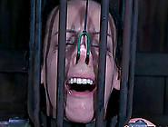 Brunette Slave Tied Facing Down When Tortured...