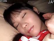 Sleeping Teen Girl Gets A Cum On Her Belly