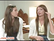 Close-Up Anal Lesbian Penetration And Deep Fi...