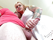 Horny Stepmom Ryan Conner Jerks Off Her Steps...