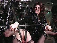 Hot Dominatrix Tickles Her Slave's Feet A...